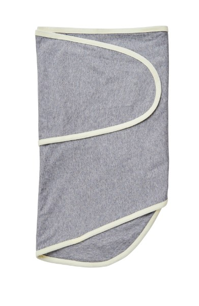 Moonlight Baby Sleep Consultant Melbourne - Miracle Blanket -Greay Heather and yellow trim - swaddling to contain startle reflex