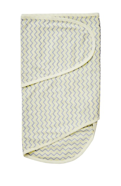 Moonlight Baby Sleep Consultant Melbourne - Miracle Blanket swaddling to contain startle reflex yellow chevron