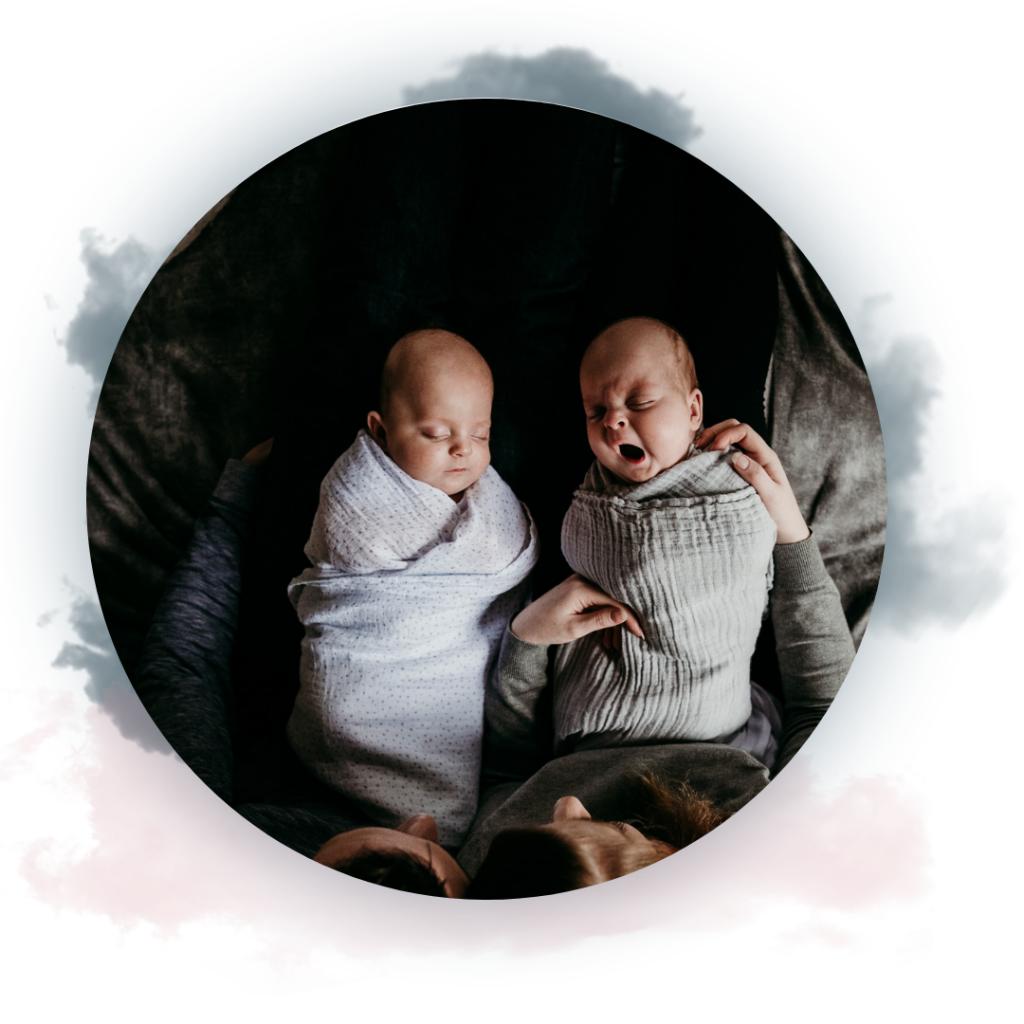 twin babies sleeping. yawning. moonlight baby sleep. melbourne