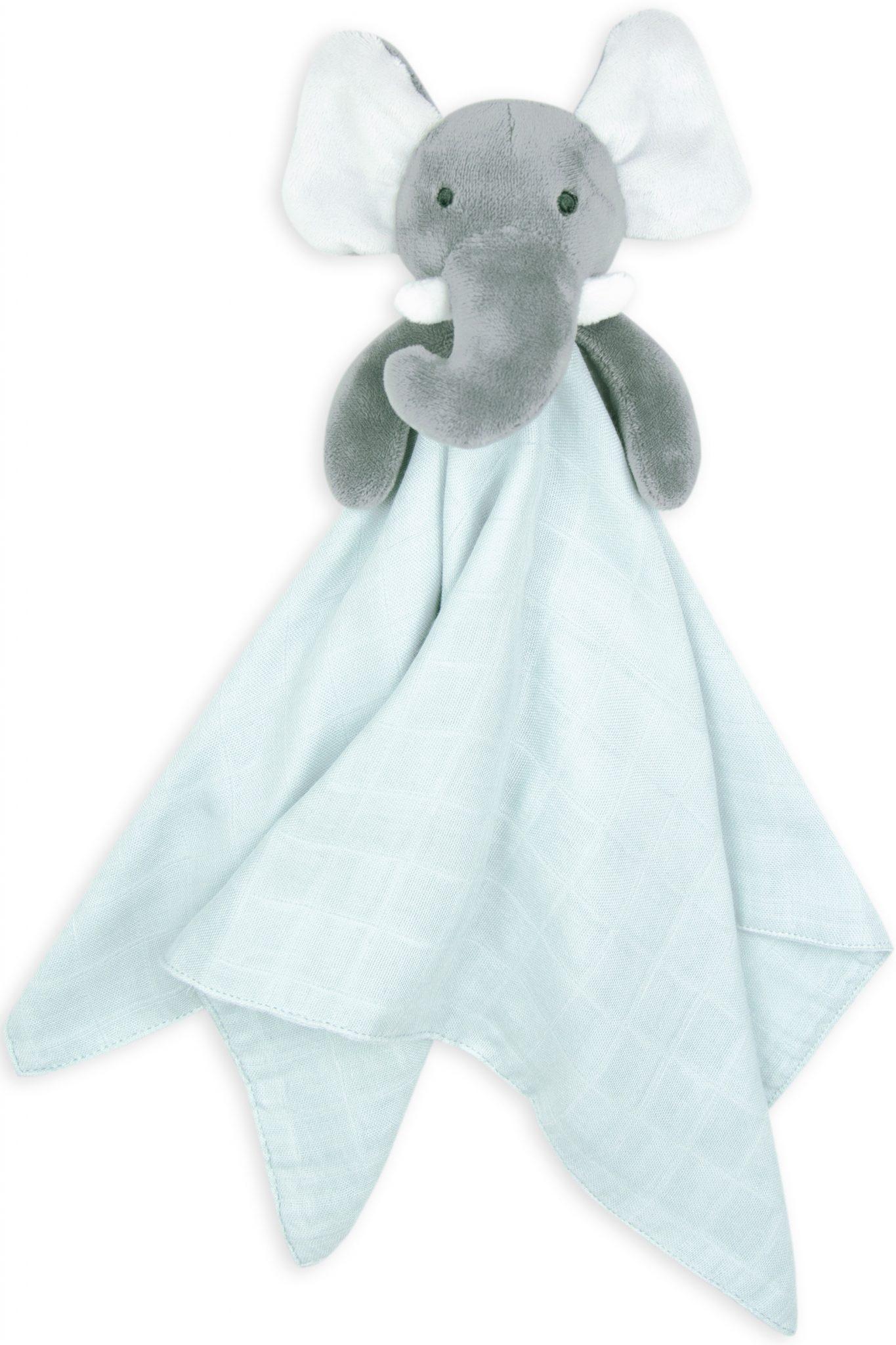 Elephant Comforter moonlight baby sleep bamboo swaddle mint colour