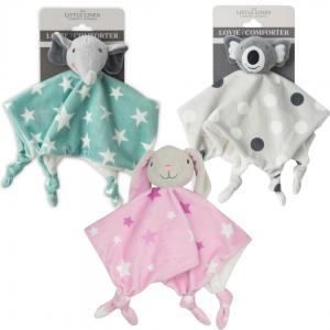 Little Linen Comforters, Elephant Star, Bunny Pink, Koala Spots