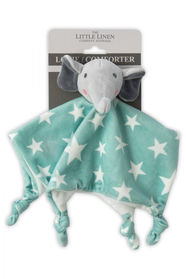 Comforter lovie. elephant star. the little linen company. moonlight baby sleep. melbourne. sleep associations.