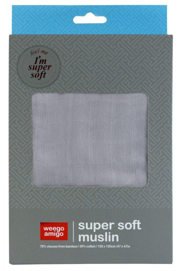 Weegoamigo Bamboo Muslin. Super soft cotton . Swaddling swaddle. soft grey. Moonlight Baby Sleep. Melbourne.