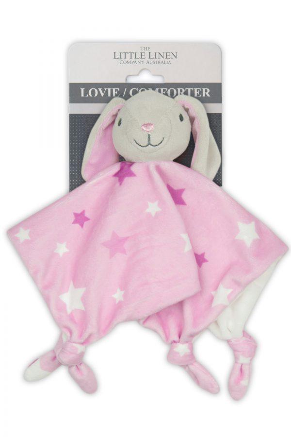Bunny Pink - Little Linen Comforter Moonlight Baby Sleep