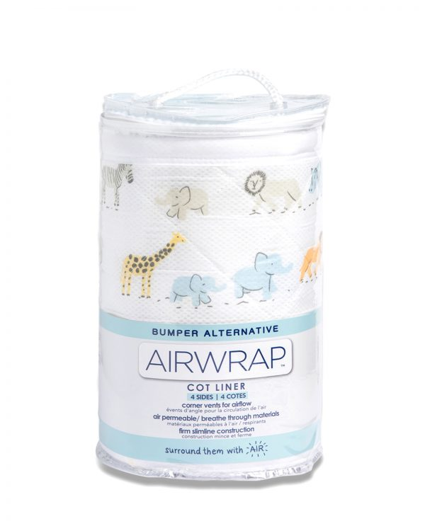 Airwrap Cot Liner - Safari March Moonlight Baby Sleep Aids