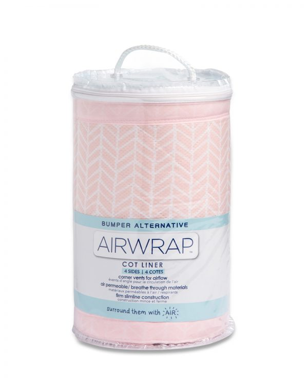 Airwrap Cot Liner - Soho Pink Moonlight Baby Sleep Aids