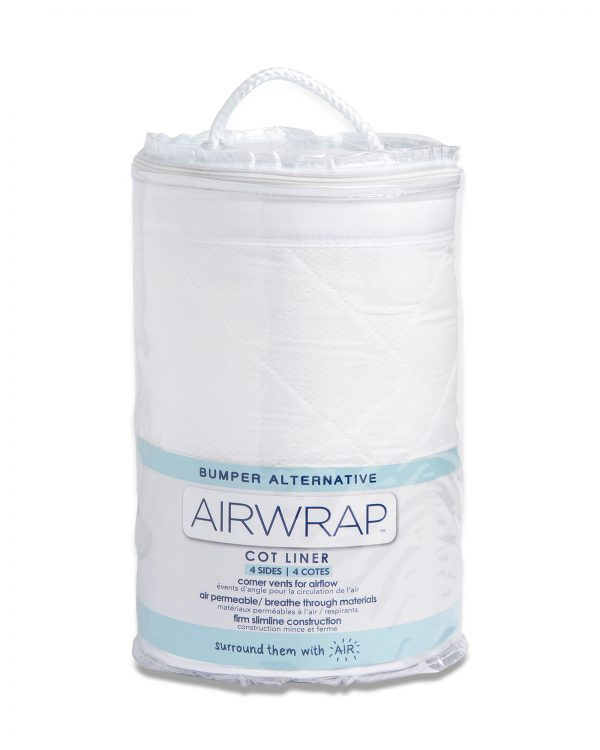Airwrap Cot Liner - White Moonlight Baby Sleep Aids